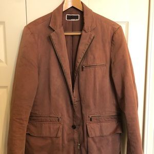 Michael Kors Tan Deconstructed Jacket / Blazer